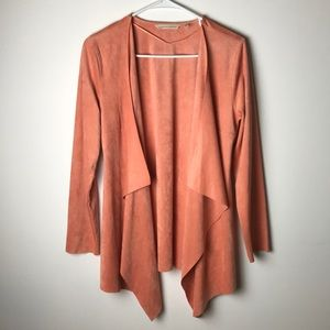 Soft Surroundings ultra soft suede cardigan XS